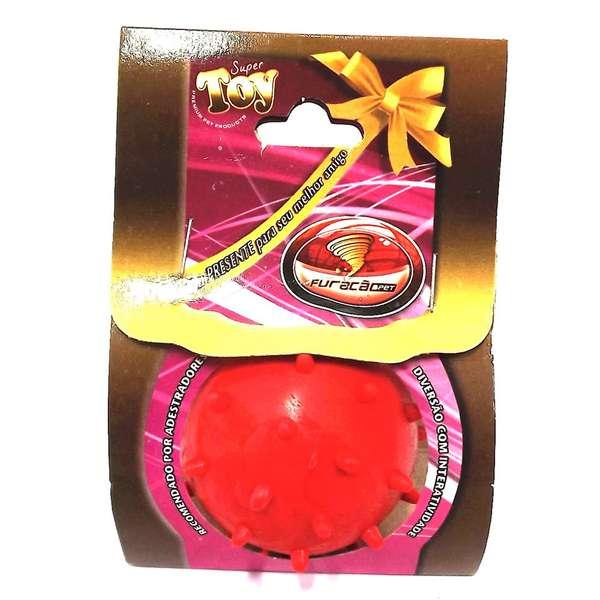 Brinquedo Furacão Pet Bola Maciça Mamona Vermelho 45mm