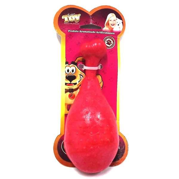Brinquedo Furacão Pet Borracha Coxa de Frango