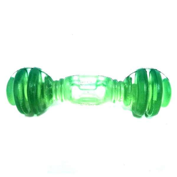 Brinquedo Furacão Pet Halteres Maciço de Pvc Flex - Verde