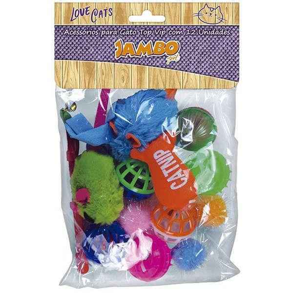 Brinquedo Jambo Acessórios para Gatos Top Vip - 12 unidades