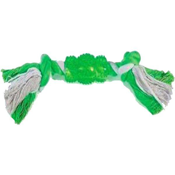 Brinquedo Jambo Corda Mordedor Rubber Bone Verde