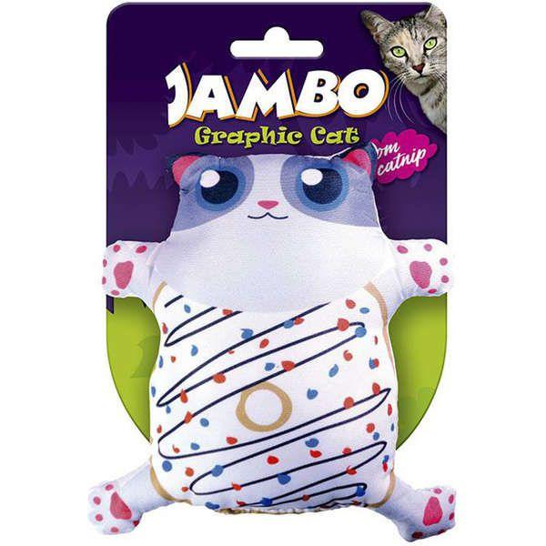 Brinquedo Jambo Graphic Cat Cut Donut