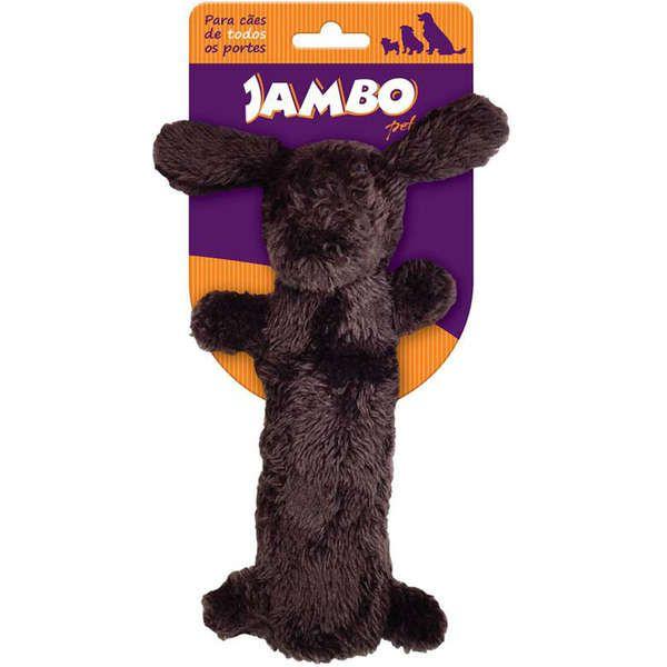 Brinquedo Jambo Mordedor Barriguinha Plush Cão Marrom