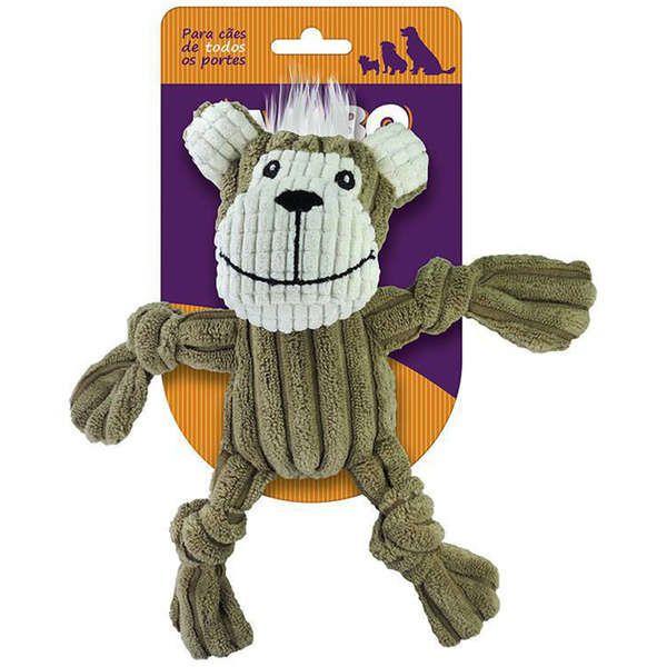 Brinquedo Jambo Mordedor Mini Knot Monkey Marrom