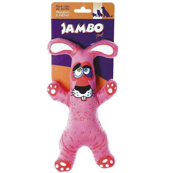Brinquedo Jambo Mordedor Pelúcia Coelho Rosa
