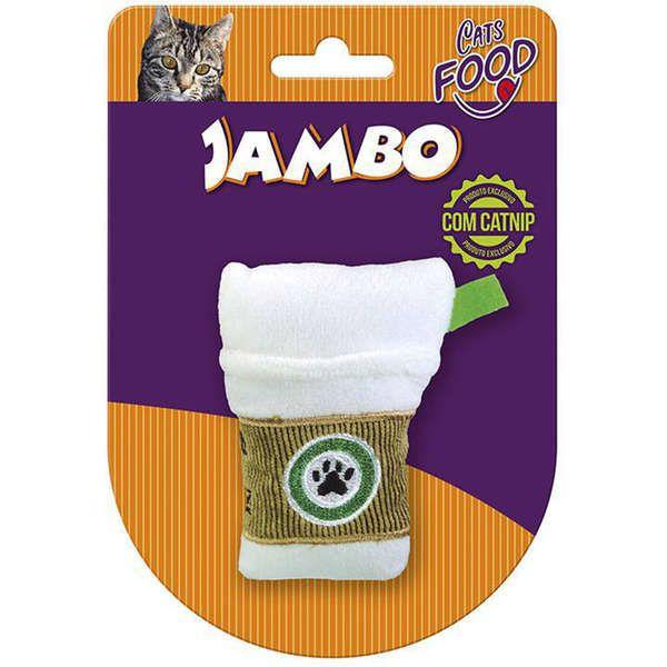 Brinquedo Jambo Pelúcia Food Cat Starbark para Gatos