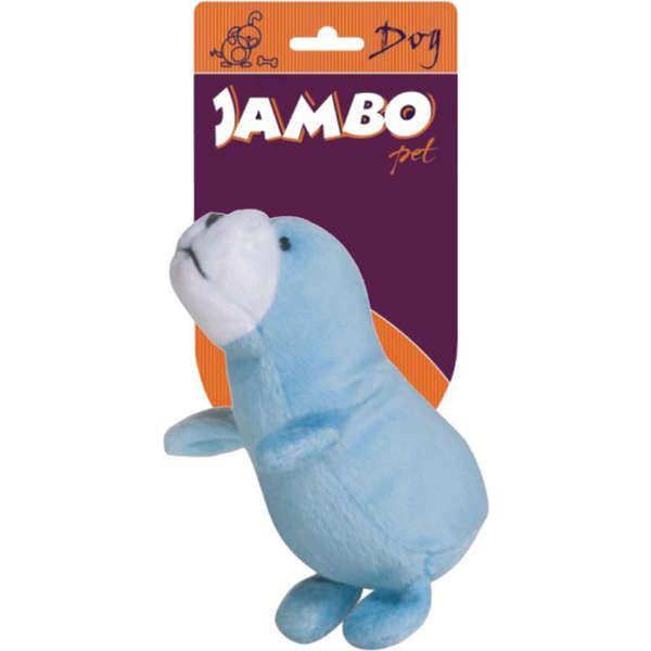 Brinquedo Jambo Mordedor Pelúcia Foquinha Azul