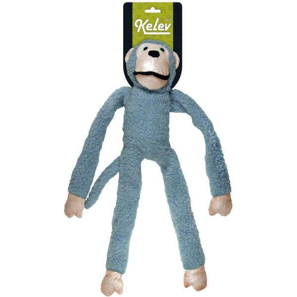 Brinquedo Jambo Mordedor Pelúcia Macaco Kelev Azul