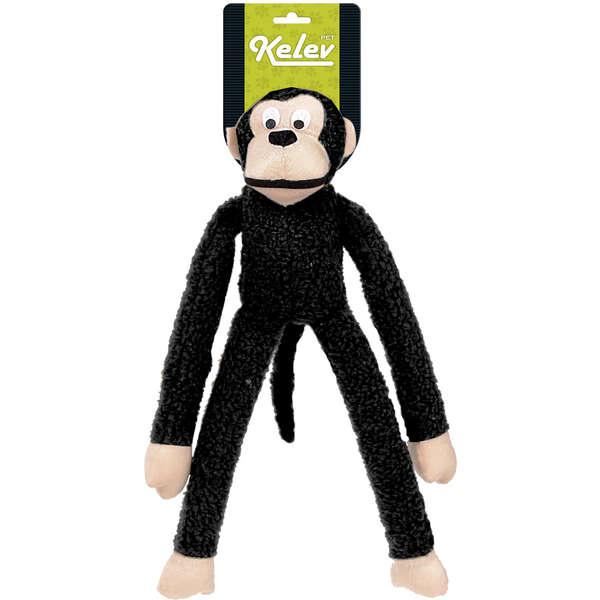 Brinquedo Jambo Mordedor Pelúcia Macaco Kelev Preto
