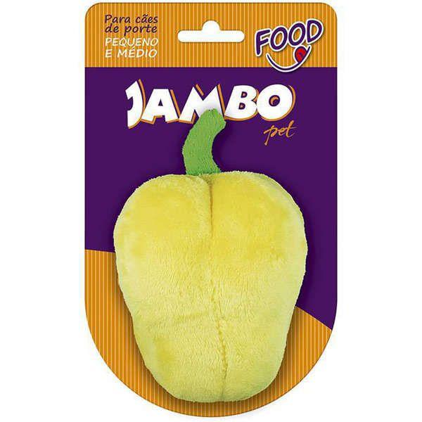 Brinquedo Jambo Mordedor Pelúcia Pimentão Amarelo