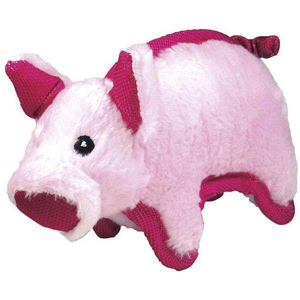 Brinquedo Jambo Mordedor Pelúcia Tuff Pig Rosa