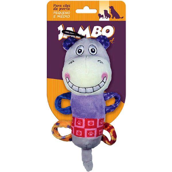 Brinquedo Jambo Mordedor Plush Smile Hippo