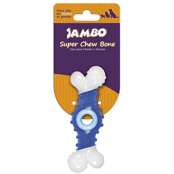 Brinquedo Jambo Osso Super Chew - Azul
