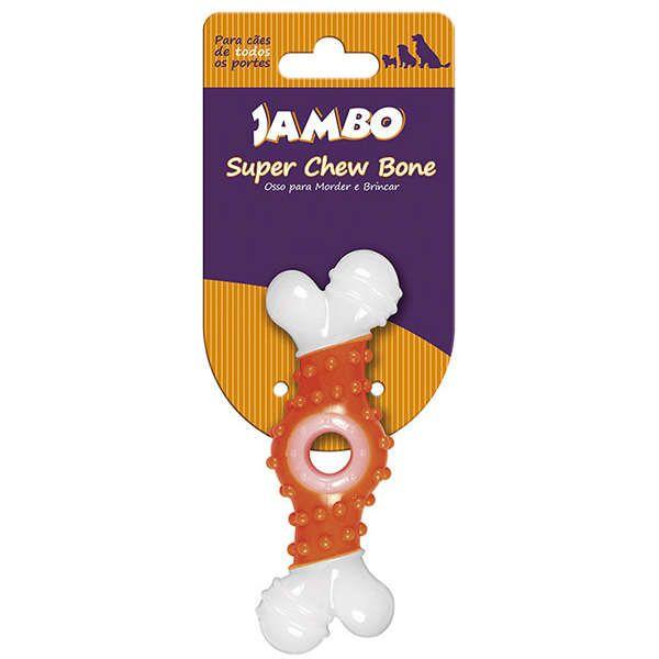 Brinquedo Jambo Osso Super Chew - Laranja