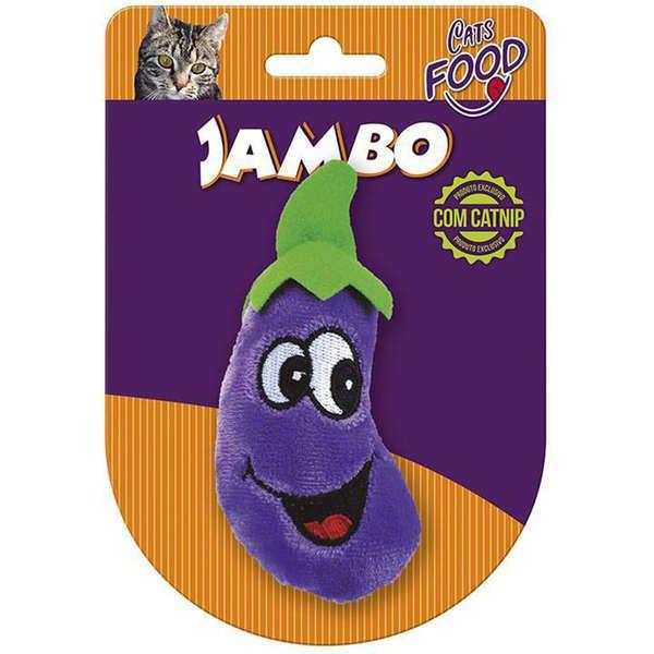Brinquedo Jambo Pelúcia Food Cat Berinjela