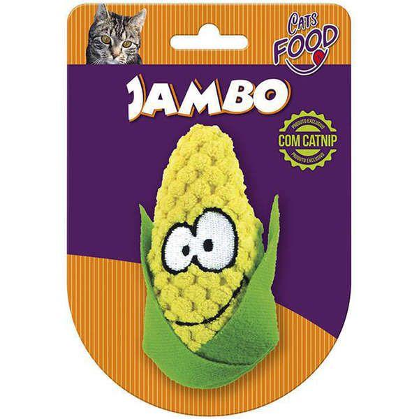 Brinquedo Jambo Pelúcia Food Cat Milho