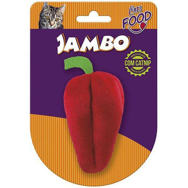 Brinquedo Jambo Pelúcia Food Cat Pimentão Vermelho