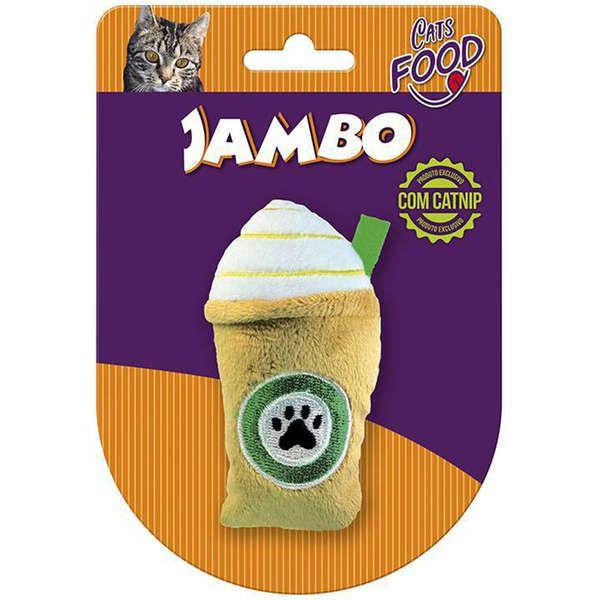Brinquedo Jambo Pelúcia Food Cat Starbark Caramelo