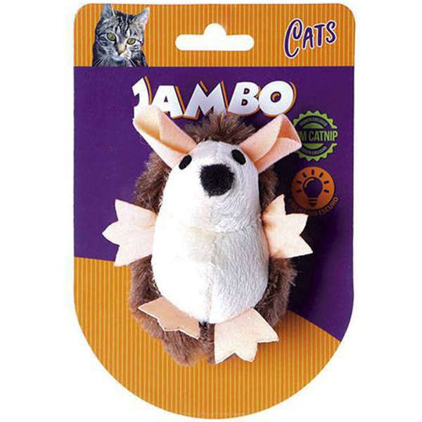 Brinquedo Jambo Pelúcia Ouriço Brilhante Marrom