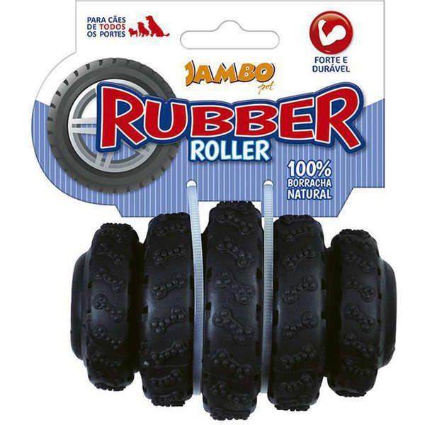 Brinquedo Jambo Rubber Roller Preto Médio