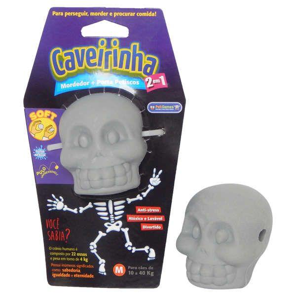 Brinquedo Mordedor Pet Games Caveirinha Soft