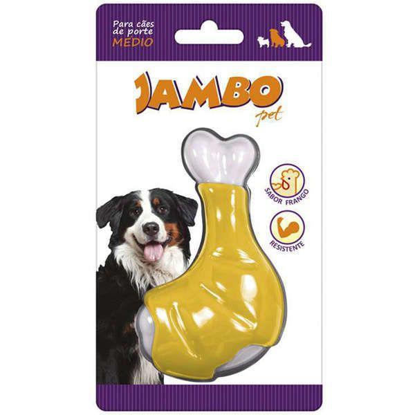 Brinquedo Osso Jambo Nyon Flavor Skin Coxa Sabor Frango