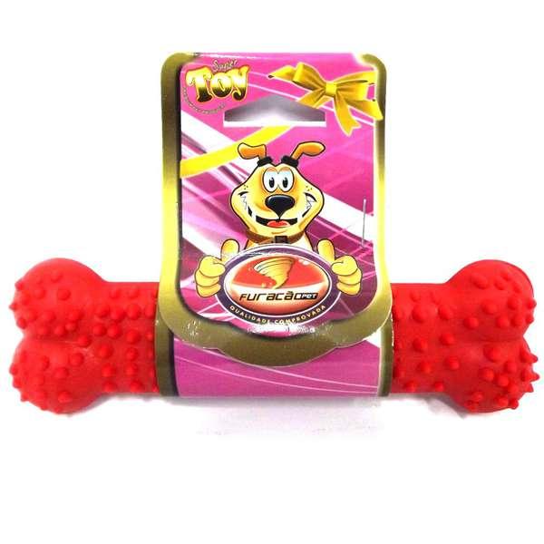 Brinquedo Osso Plaque Ataque Borracha com Cravo