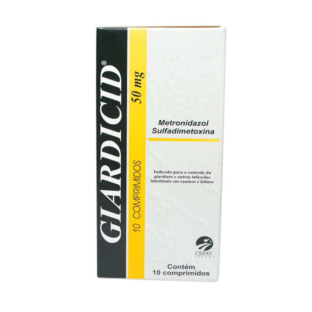 Antibiótico Cepav Giardicid Pharma 50 mg - 10 Comprimidos