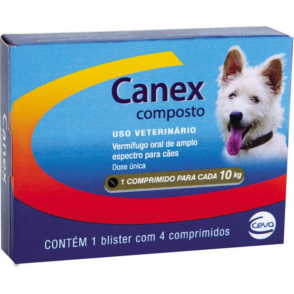 Vermifugo Ceva Canex Composto para Cães - 4 Comprimidos