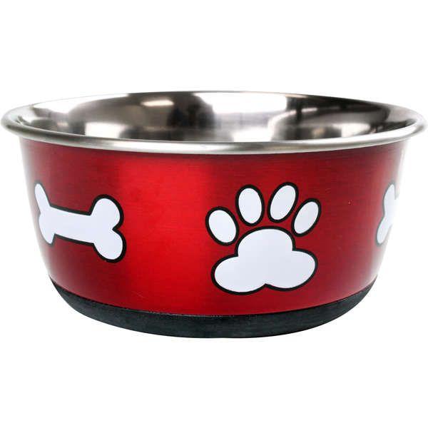 Comedouro Jambo Vermelho Metálico para Cães