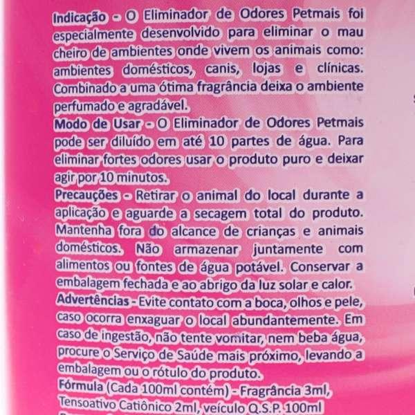 Eliminador de Odores Petmais Splash Floral 2 Litros