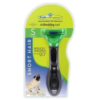 Escova Tira Pelo Furminator para Cães com Pelo Curto - Pequeno
