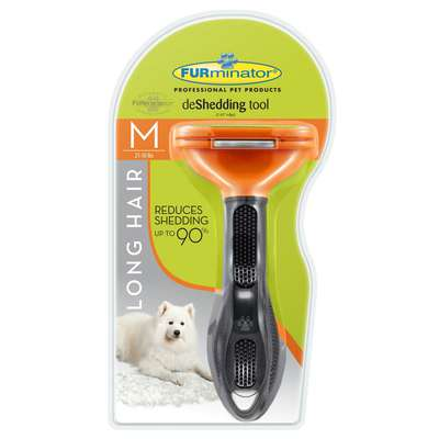 Escova Tira Pelo Furminator para Cães com Pelo Longo - Médio
