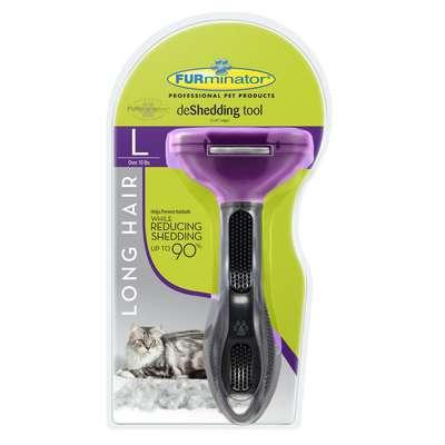 Escova Tira Pelo Furminator para Gatos com Pelo Longo - Grande