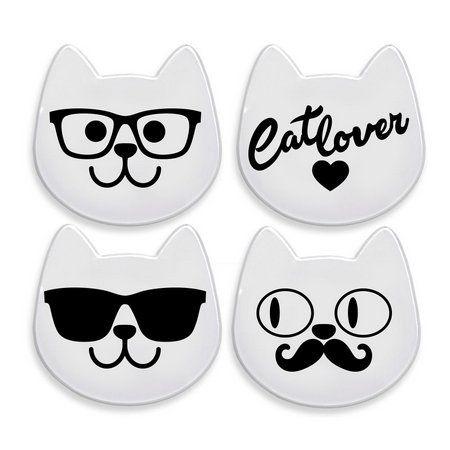 CatMyPet Kit Porta-Copos Gatinhos