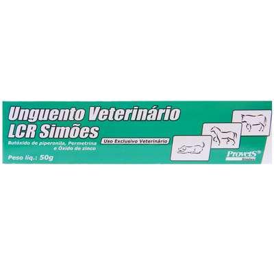 Larvicida e Repelente de Insetos Provets Unguento Vet LCR - 50 g