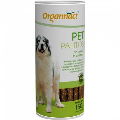 Suplemento Organnact Cães Pet Palitos Probiótico 160g