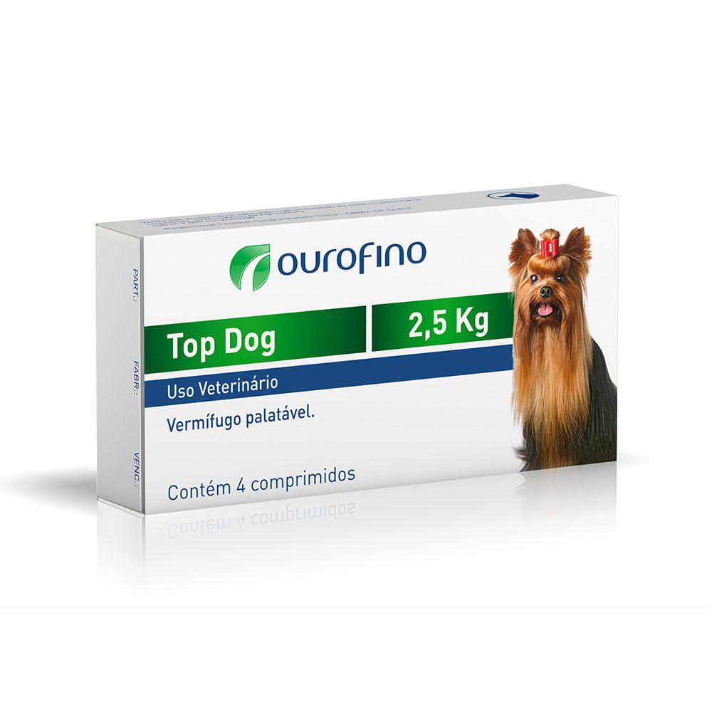 Vermifugo Ourofino Top Dog para Cães