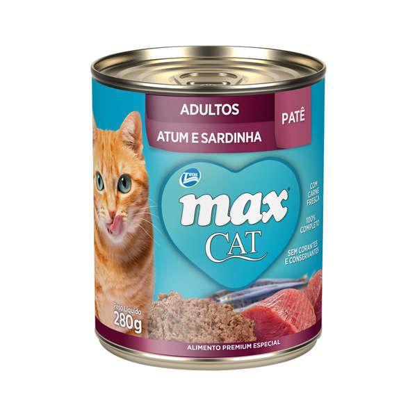 Patê Total Max Atum e Sardinha para Gatos Adultos