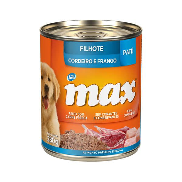 Patê Total Max Cordeiro e Frango para Cães Filhotes