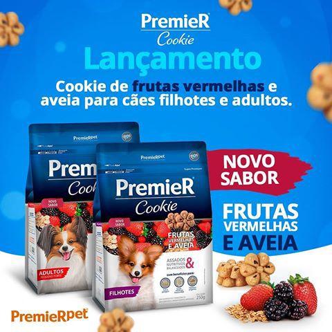 Petisco Premier Cookie Cães Filhotes Frutas Vermelhas e Aveia - 250 g