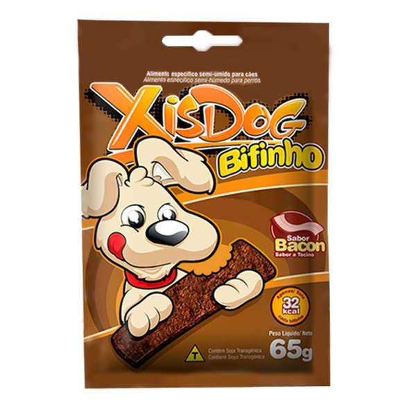 Petisco XisDog Bifinho Bacon para Cães - 65 g