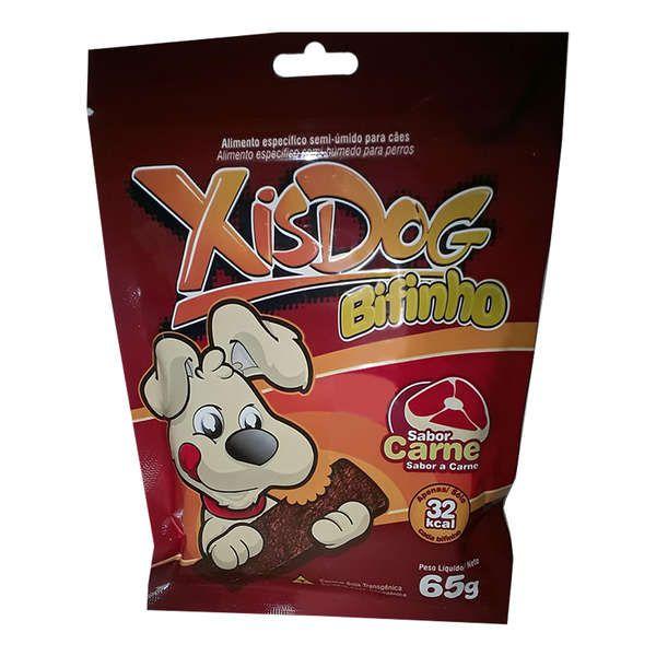 Petisco XisDog Bifinho Carne para Cães - 65 g