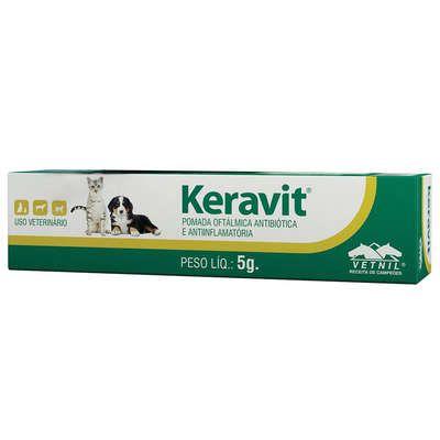 Pomada Oftalmológica Keravit Vetnil - 5 g