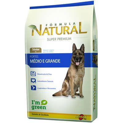 Ração Adimax Pet Formula Natural para Cães Sênior de Porte Médio e Grande