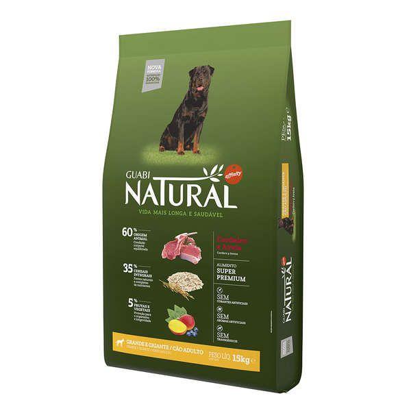 Ração Affinity Guabi Natural Cordeiro e Aveia para Cães Adultos Raças Grande e Gigante