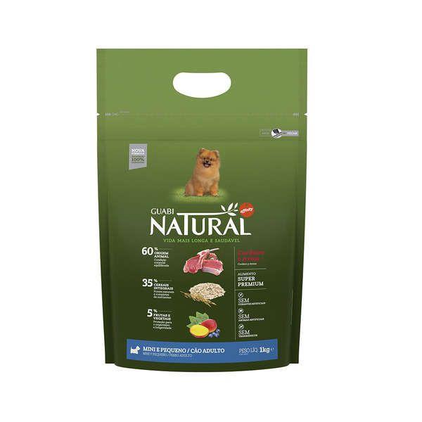 Ração Affinity Guabi Natural Cordeiro e Aveia para Cães Adultos Raças Mini e Pequena