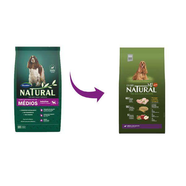 Ração Affinity Guabi Natural Frango e Arroz Integral para Cães Adultos Raças Média