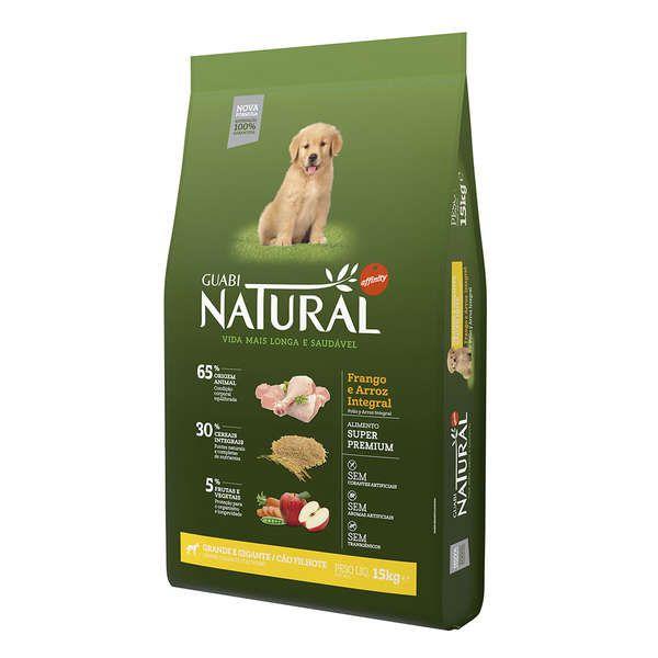 Ração Affinity Guabi Natural Frango e Arroz Integral para Cães Filhotes Raças Grande e Gigante
