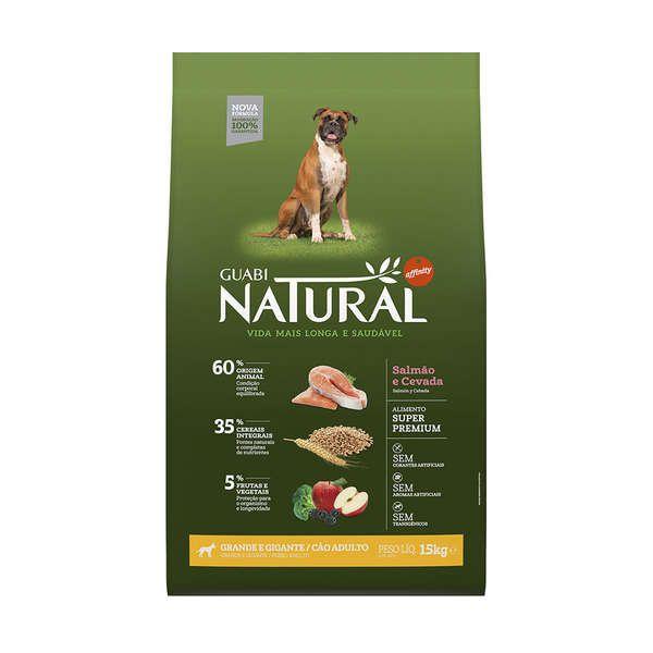 Ração Affinity Guabi Natural Salmão e Cevada para Cães Adultos Raças Grande e Gigante
